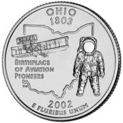 "¼ Dollar ""Washington Quarter"" (Ohio) – reverse"