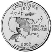 "¼ Dollar ""Washington Quarter"" (Louisiana) -  reverse"