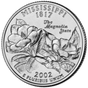 "¼ Dollar ""Washington Quarter"" (Mississippi) -  reverse"