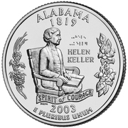 "¼ Dollar ""Washington Quarter"" (Alabama) -  reverse"