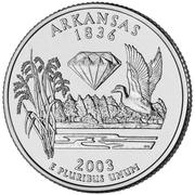 "¼ Dollar ""Washington Quarter"" (Arkansas) -  reverse"
