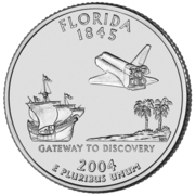 "¼ Dollar ""Washington Quarter"" (Florida) -  reverse"