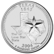 "¼ Dollar ""Washington Quarter"" (Texas) -  reverse"