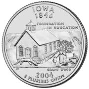 "¼ Dollar ""Washington Quarter"" (Iowa) -  reverse"