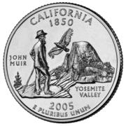 """¼ Dollar """"Washington Quarter"""" (California) -  reverse"""