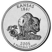 "¼ Dollar ""Washington Quarter"" (Kansas) -  reverse"
