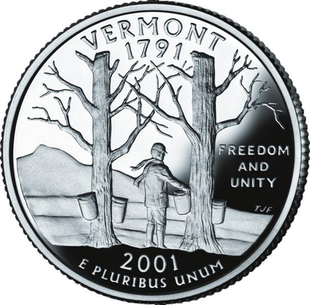 188 Dollar Quot Washington Quarter Quot Vermont Silver Proof