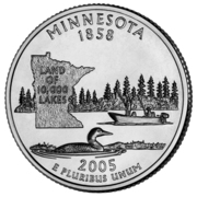 "¼ Dollar ""Washington Quarter"" (Minnesota) -  reverse"