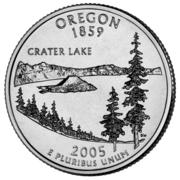 "¼ Dollar ""Washington Quarter"" (Oregon) -  reverse"