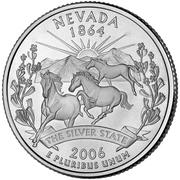 """¼ Dollar """"Washington Quarter"""" (Nevada) -  reverse"""