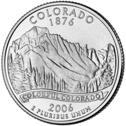 "¼ Dollar ""Washington Quarter"" (Colorado) -  reverse"