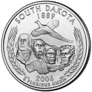 "¼ Dollar ""Washington Quarter"" (South Dakota) -  reverse"