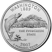 """¼ Dollar """"Washington Quarter"""" (Washington) -  reverse"""