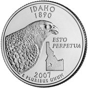 "¼ Dollar ""Washington Quarter"" (Idaho) -  reverse"