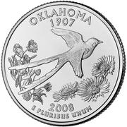 "¼ Dollar ""Washington Quarter"" (Oklahoma) -  reverse"
