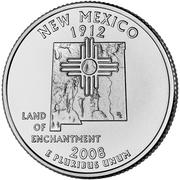 "¼ Dollar ""Washington Quarter"" (New Mexico) -  reverse"