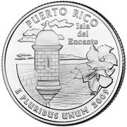 "¼ Dollar ""Washington Quarter"" (Puerto Rico) -  reverse"
