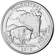 "¼ Dollar ""Washington Quarter"" (Yellowstone, Wyoming) -  reverse"