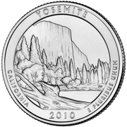 """¼ Dollar """"Washington Quarter"""" (Yosemite, California) -  reverse"""