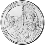 "¼ Dollar ""Washington Quarter"" (Grand Canyon, Arizona) -  reverse"