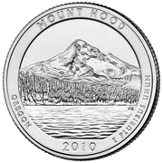"¼ Dollar ""Washington Quarter"" (Mount Hood, Oregon) -  reverse"