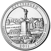"¼ Dollar ""Washington Quarter"" (Gettysburg National Military Park, Pennsylvania) -  reverse"