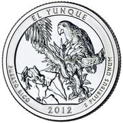 "¼ Dollar ""Washington Quarter"" (El Yunque National Forest, Puerto Rico) -  reverse"