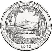"¼ Dollar ""Washington Quarter"" (White Mountain National Forest, New Hampshire) -  reverse"