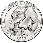 "¼ Dollar ""Washington Quarter"" (Mount Rushmore, South Dakota) -  reverse"