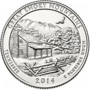 "¼ Dollar ""Washington Quarter"" (Great Smoky Mountains, Tennessee) -  reverse"