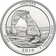 ¼ Dollar ''Washington Quarter'' (Arches National Park, Utah) -  reverse