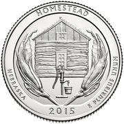 ¼ Dollar ''Washington Quarter'' (Homestead National Monument of America, Nebraska) -  reverse