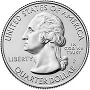 ¼ Dollar ''Washington Quarter'' (Theodore Roosevelt National Park, North Dakota) -  obverse