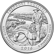 ¼ Dollar ''Washington Quarter'' (Theodore Roosevelt National Park, North Dakota) -  reverse