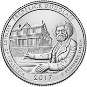 ¼ Dollar ''Washington Quarter'' (Frederick Douglass National Historic Site, District of Columbia) -  reverse