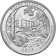 ¼ Dollar ''Washington Quarter'' (Ozark National Scenic Riverways, Missouri) -  reverse