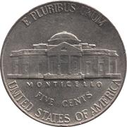 "5 Cents ""Jefferson Nickel"" (1st portrait) -  reverse"