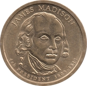 1 Dollar (James Madison) -  obverse