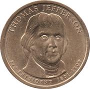 1 Dollar (Thomas Jefferson) -  obverse