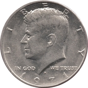 """½ Dollar """"Kennedy Half Dollar"""" (Copper-Nickel Clad Copper) -  obverse"""
