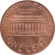 "1 Cent ""Lincoln Memorial Cent"" -  reverse"