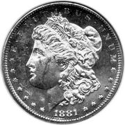 "1 Dollar ""Morgan Dollar"" -  obverse"