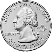 ¼ Dollar ''Washington Quarter'' (Lowell National Historical Park, Massachusetts) -  obverse