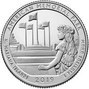 ¼ Dollar ''Washington Quarter'' (American Memorial Park, Northern Mariana Islands) -  reverse