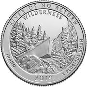 ¼ Dollar ''Washington Quarter'' (Frank Church River of No Return Wilderness, Idaho) -  reverse