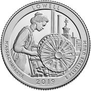 ¼ Dollar ''Washington Quarter'' (Lowell National Historical Park, Massachusetts) -  reverse