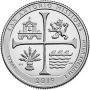 ¼ Dollar ''Washington Quarter'' (San Antonio Missions National Historical Park, Texas) -  reverse