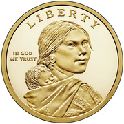 """1 Dollar """"Native American Dollar"""" (American Indians in the Space Program) -  obverse"""