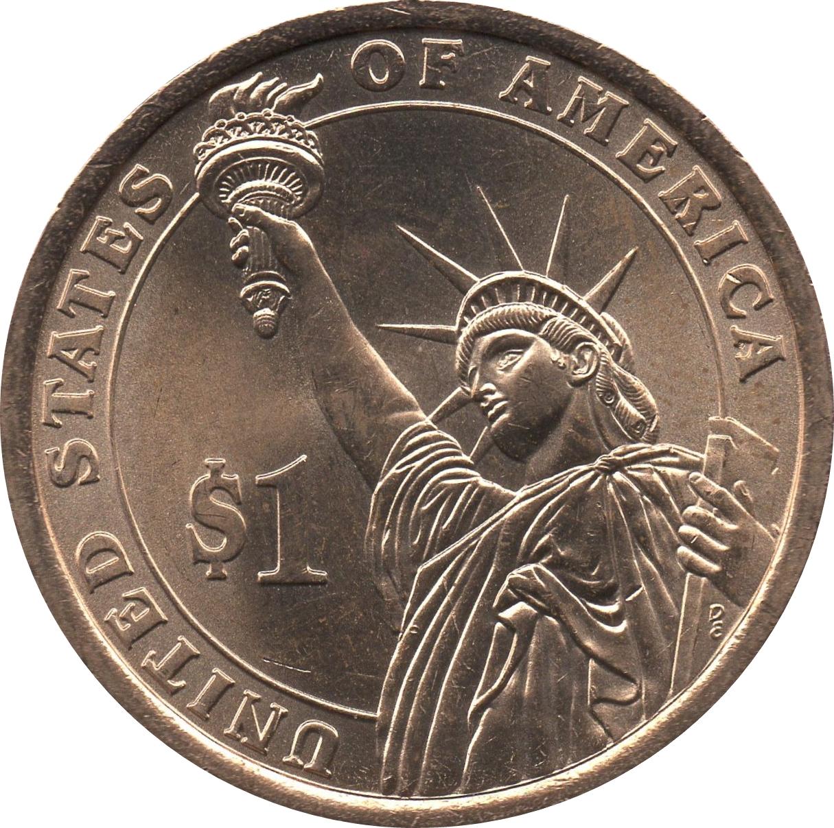Johnson dollar $1 coins Denver BU UNC 2015 United States US Presidents Lyndon D