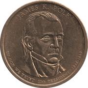 1 Dollar (James K. Polk) -  obverse